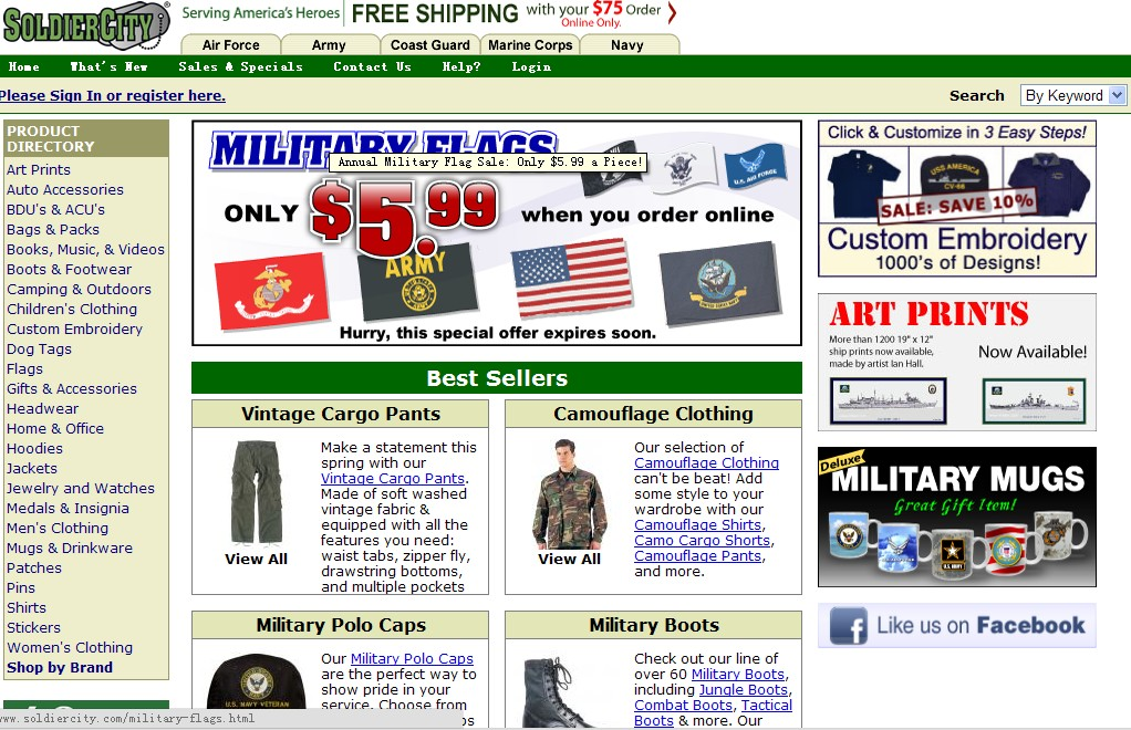 Click to Open SoldierCity Store