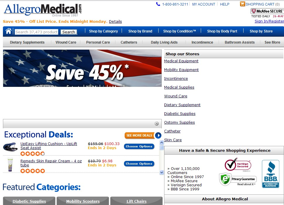 Click to Open AllegroMedical.com Store