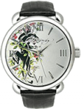 Watchzone: $20.02 Off Ed Hardy Flora Silver Dial Women's Watch