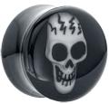 FreshTrends: 50% Off Black & White Acrylic 3D Skull Plugs