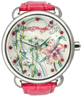 Watchzone: $77.01 Off Ed Hardy Garden Pink Floral Mother-of-Pearl Dial