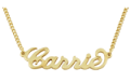 Best Personalized Jewelry: 50% Off On 18K Gold Plated Brass Carrie Name Necklace