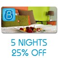 Beacon Hotel: Stay 5 Nights Get 25% Off