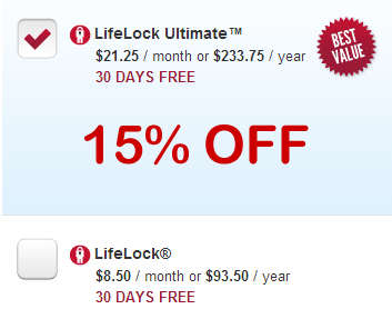 Find the LifeLock price that's right for you