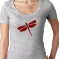 YogaAccessories: Dragonfly™ Scoop Neck Shirt