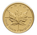 Profit Trove: Buy 1/10oz Canadian Maple Leaf Gold Coin Just 193.80