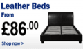 Bedstar: Leather Beds From £86.00 - £200.00