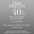 Ann Taylor: 40% Off Select Prints