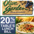 OliveGarden: 20% Off Lunch Bill