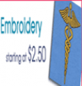 Scrubs123: Embroidery $2.50 & Up
