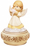 Precious Moments: Best Seller : Angel Holding Nativity Star - Musical