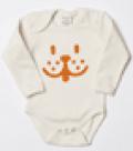 Softbaby: Organic Cotton Onesie - Animal Face Just $43