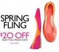 Nine West: $20 Off Select Flats, Up To 70% Off End Of Season Sale