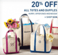 L.L. Bean: 20% Off All Totes And Duffles