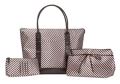 OfficeMax: 3-Piece Pink Stripe Bag Set