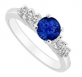 Love Bright Jewelry: $291 Off Apphire Engagement Ring Deal