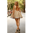 Allison Parris: Up To 78% Off Backless Party Dress - Blush