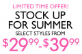 Nine West: Summer Stock Up Sale Now: $29.99 - $39.99
