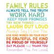 Joss & Main: Family Rules Wall Art In Multi