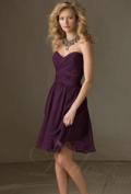 Dido Bridal: 53% Off Beautiful A-line Sweetheart Pleats Short Chiffon Bridesmaid Dress + Free Shipping