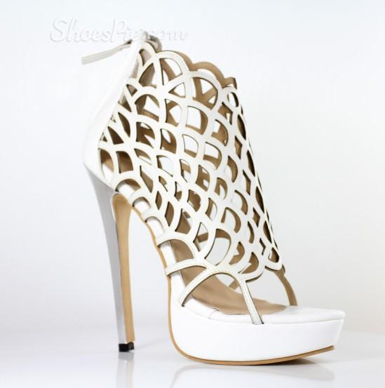 Shoes Pie: 60% Off Fashionable Cut-Outs Peep-toe Stiletto Heels + Free Shipping