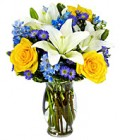 From You Flowers: Rose And Lily Sunshine Bouquet