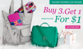 Kipling: Buy Any 3 Items, Get 1 For $1