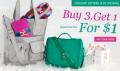 Kipling: Buy Any 3 Items, Get 1 For $1