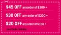 Sweetiee.com: $45 Off $300+