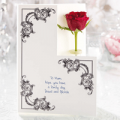 Flowercard: Single Rose Card
