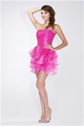IZIDRESS: 65% Off Ball Gown Strapless Sweetheart Short/Mini Organza Prom Dress