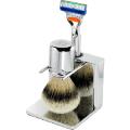 Luxury Barber: Chrome Shaving Set