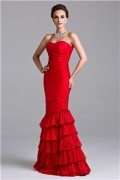 IZIDRESS: 75% Off Trumpet/Mermaid Strapless Sweetheart Floor-length Taffeta Prom Dress