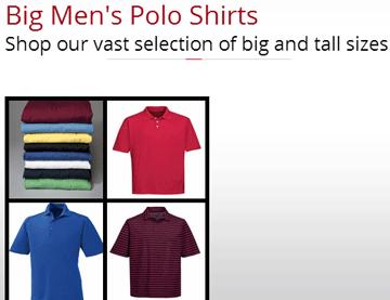 Big Men's Polo Shirts