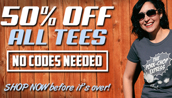 Five Finger Tees: 50% Off