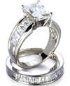 Fantasy Jewelry Box: Kimberley's Emerald Cut CZ Replica Wedding Ring Set
