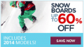SnowBoards: Boards: 60% Off