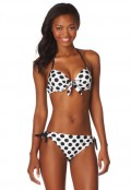 Maurices: 25% Off Black And White Dot Print Push-up Swim Top