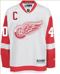 "Detroit Athletic: Zetterberg #40 ""C"" Detroit Red Wings Reebok Premier ROAD Jersey"