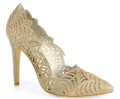 Footnotesonline: Alice + Olivia - Dina Floral- Cut Out Glitter Pump $395.00