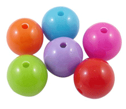 Hot! $4.58 on opaque bubblegum chunky acrylic beads