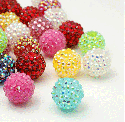 Hot sale! $6.45 on bright shine and vivid colors resin rhinestone beads