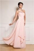 IZIDRESS: 75% Off A-Line/Princess One Shoulder Floor-length Chiffon Prom Dress