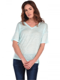 Clothes By Majestic: $31.5 Off LINEN V-NECK TEE