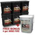 Wise Food Storage: Free 4 Gal. Wise Fire Wise Company Deluxe Package + Free Shipping