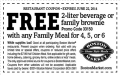 BostonMarket: FREE 2-liter Drink Or A Family Brownie