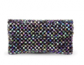 MyBag: Kate Sheridan Alice Beaded Leather Clutch Bag - Multi