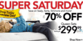 Sleepys: Up To 70% Off Super Saturday Sale