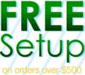 Any Promo: Free Setup On $500+ Order