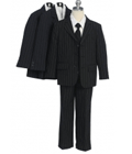 Babyz And Kidz: Classic Boy 5PC Three Button Striped Suit